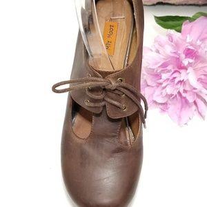 Miz Mooz Womens Brown Chunky Heels slingback
